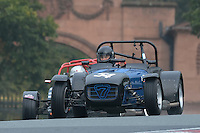 #54 S Lanyon / M Lanyon Caterham 7 1800 during the CSCC Gold Arts Magnificent Sevens at Oulton Park, Little Budworth, Cheshire, United Kingdom. October 15 2016. World Copyright Peter Taylor/PSP. <br /> Copy of publication required for printed pictures.  Every used picture is fee-liable. http://archive.petertaylor-photographic.co.uk