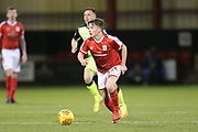 Tom Lowery sets off towards goal for Crewe  during the EFL Sky Bet League 2 match between Crewe Alexandra and Exeter City at Alexandra Stadium, Crewe, England on 20 February 2018. Picture by Graham Holt.