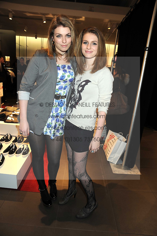 Left to right, sisters LOLA LENNOX and TALI LENNOX daughters of singer Annie Lennox at a preview of the H&M Comme des Garcons collection held at H&M Regent Stret, London on 12th November 2008.