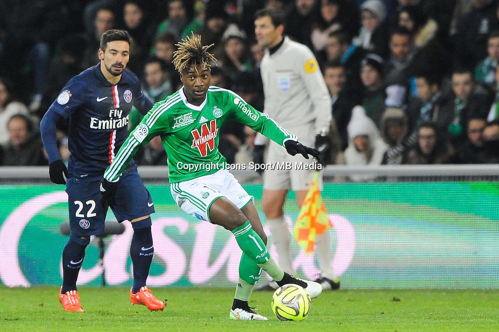 Allan SAINT MAXIMIN - 25.01.2015 - Saint Etienne / PSG - 22eme journee de Ligue1<br /> Photo : Jean Paul Thomas / Icon Sport