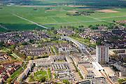 Nederland, Zuid-Holland, Rotterdam, 09-05-2013; Spijkenisse. Eindpunt Metro RET, De Akkers.<br /> Terminus subway, beginning country side, Rotterdam region. <br /> luchtfoto (toeslag op standard tarieven)<br /> aerial photo (additional fee required)<br /> copyright foto/photo Siebe Swart