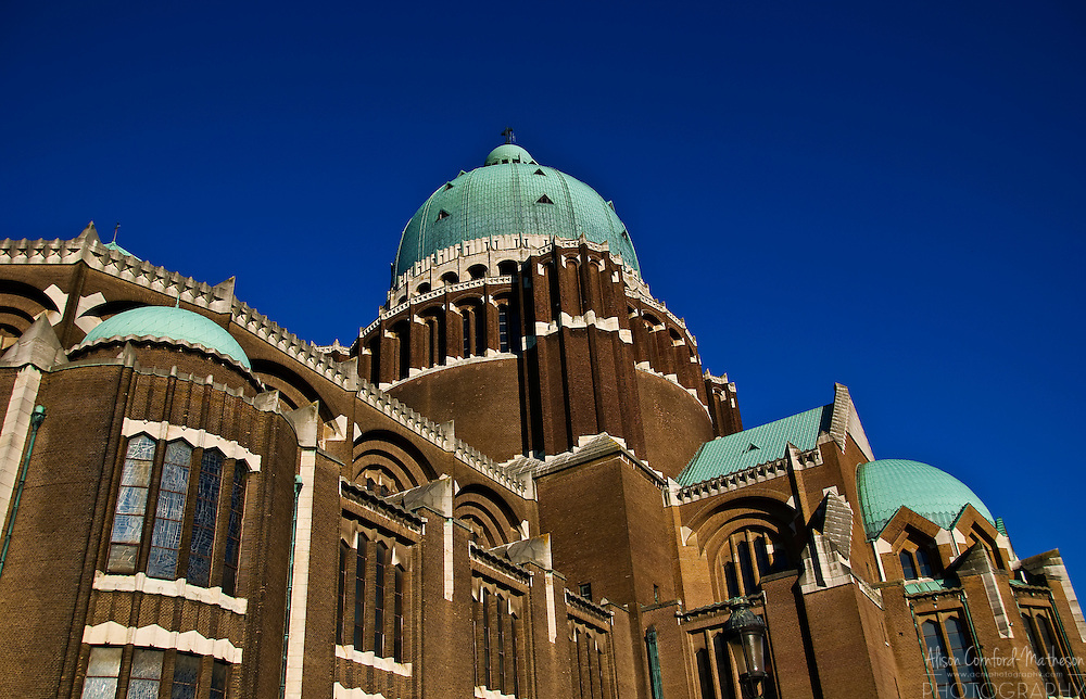 The National Basilica of the Sacred Heart is also known as the Koekelberg Basilica in Brussels, Belgium.