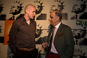 PHILIPPE SENDEROS AND  SWISS AMBASSADOR: ALEXIS P. LAUTENBERG, The launch of Your Game 2008. Swiss Ambassador's Residence car park. Bryanston Sq. London. W1. 28 February 2008.  *** Local Caption *** -DO NOT ARCHIVE-© Copyright Photograph by Dafydd Jones. 248 Clapham Rd. London SW9 0PZ. Tel 0207 820 0771. www.dafjones.com.