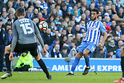 Brighton and Hove Albion defender Connor Goldson (18) during the The FA Cup match between Brighton and Hove Albion and Coventry City at the American Express Community Stadium, Brighton and Hove, England on 17 February 2018. Picture by Phil Duncan.