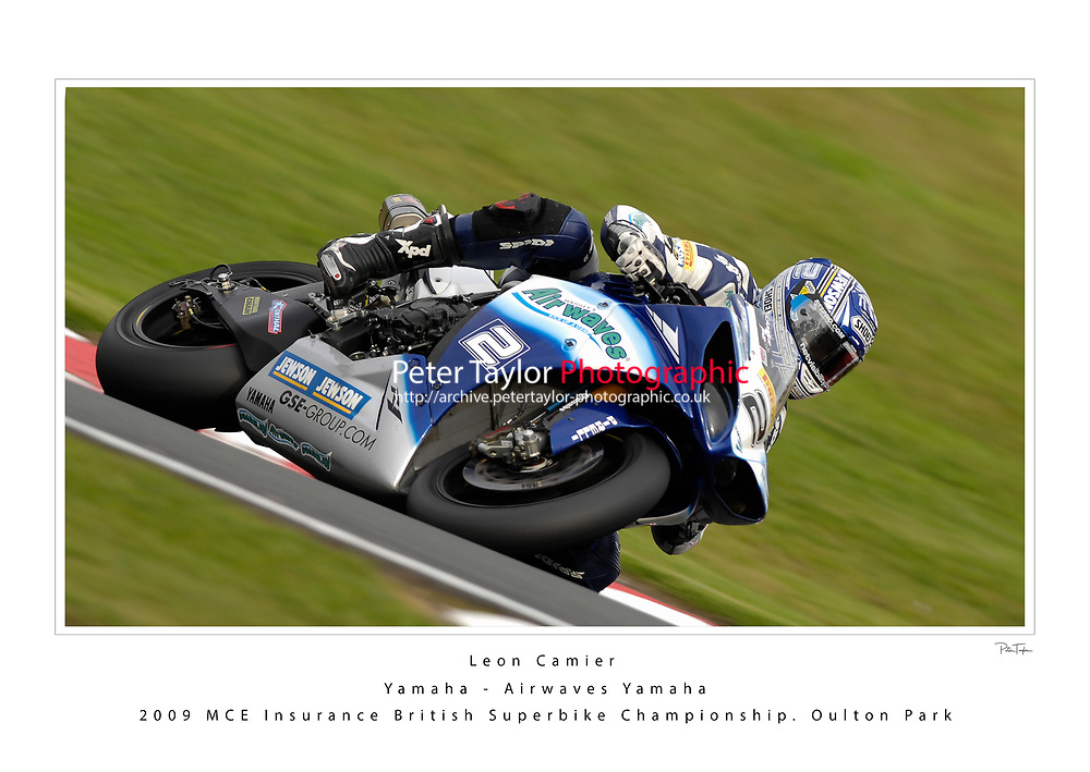 2009 MCE Insurance British Superbike Championship. Oulton Park, Cheshire, United Kingdom. 9/10/11 October 2009.   (2) - Leon Camier (GBR) - Yamaha - Airwaves Yamaha.  World Copyright: Peter Taylor/PSP. Copy of publication required for printed pictures. Every used picture is fee-liable.