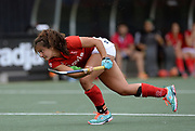 Complutense's  Lola Riera Zuzuarregui scores the second goal during their 2nd game of the EHCC 2017 at Den Bosch HC, The Netherlands, 4th June 2017