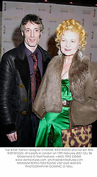 Top British fashion designer VIVIENNE WESTWOOD and her son BEN WESTWOOD, at a party in London on 19th February 2001.	OLL 56