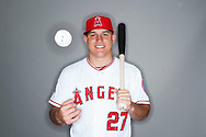 The Angels' Mike Trout poses during the Halos' 2015 Spring Training photo day.