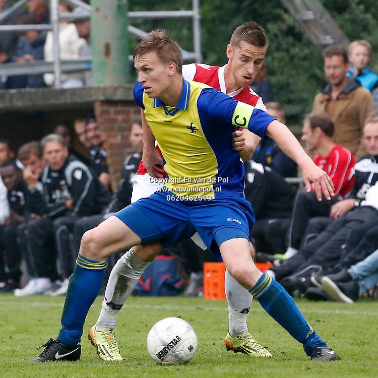 ALKMAAR - 09-07-2014 - AFC 34 - AZ, sportpark Robonsbosweg, 1-4, AZ speler Donny Gorter (r).