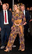 ROTTERDAM 27-1-2016 etro jumpsuit Koningin Maxima is woensdagavond 27 januari 2016 bij de offici&euml;le opening van de 45e editie van International Film Festival Rotterdam (IFFR) in De Doelen.  Tijdens de openingsavond wordt de film 'Beyond Sleep' vertoond, een internationale coproductie gebaseerd op de Nederlandse boekklassieker Nooit Meer Slapen van W.F. Hermans. COPYRIGHT ROBIN UTRECHT<br /> ROTTERDAM 27-1-2016 Queen Maxima is Wednesday January 27, 2016 at the official opening of the 45th edition of International Film Festival Rotterdam (IFFR) in De Doelen. During the opening night of the film &quot;Beyond Sleep 'is displayed, an international co-production based on the Dutch book classic Never Sleep WF Hermans. COPYRIGHT ROBIN UTRECHT