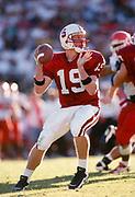 COLLEGE FOOTBALL:  Chad Hutchinson, Stanford v Utah, September 7, 1996 at Stanford Stadium in Palo Alto, California.  Photograph by David Madison ( www.davidmadison.com).