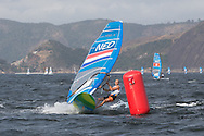 2016 Olympic Sailing Games-Rio-Brazil, dag 1race 3, rm-NED- Dorian Van Rijsselberge- RSX Men, winner in race 3, ANP COPYRIGHT