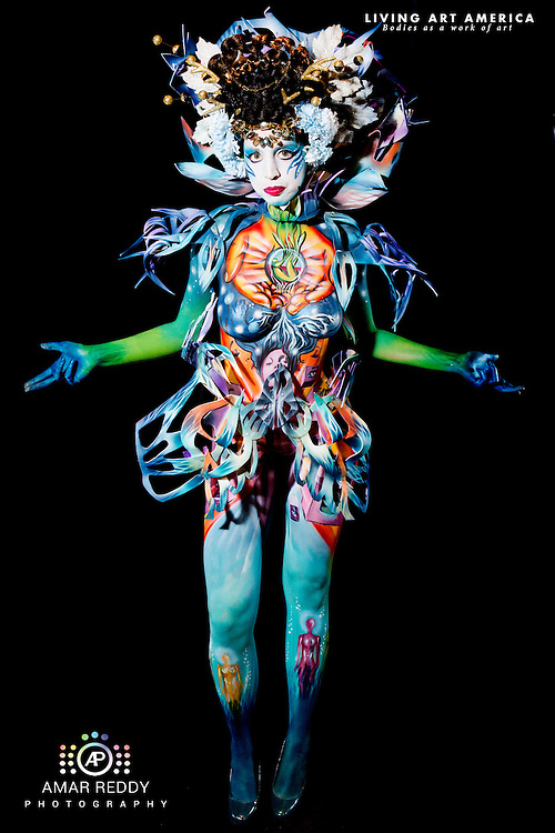 Living Art America::The Bodies Works of Art::The North American Body Painting Championship | A World Body-painting Association Sanctioned Event <br /> <br /> Artist: Sara Thorne Meyer, Model:&nbsp;Katlin Tucker,<br /> Photographer: Amar Reddy<br /> <br /> www.livingartamerica.com<br /> www.AmarPhotography.com