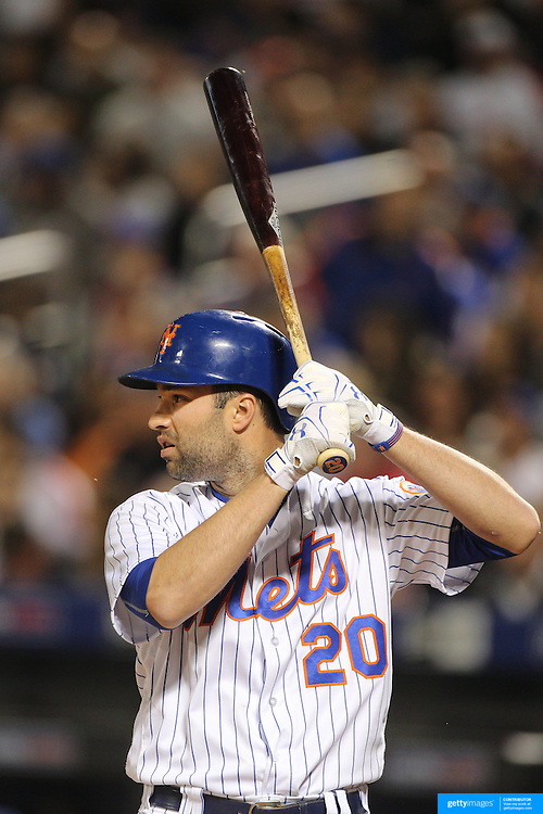 NEW YORK, NEW YORK - APRIL 25: Neil Walker #20 of the New York Mets batting during the New York Mets Vs Cincinnati Reds MLB regular season game at Citi Field on April 25, 2016 in New York City. (Photo by Tim Clayton/Corbis via Getty Images)