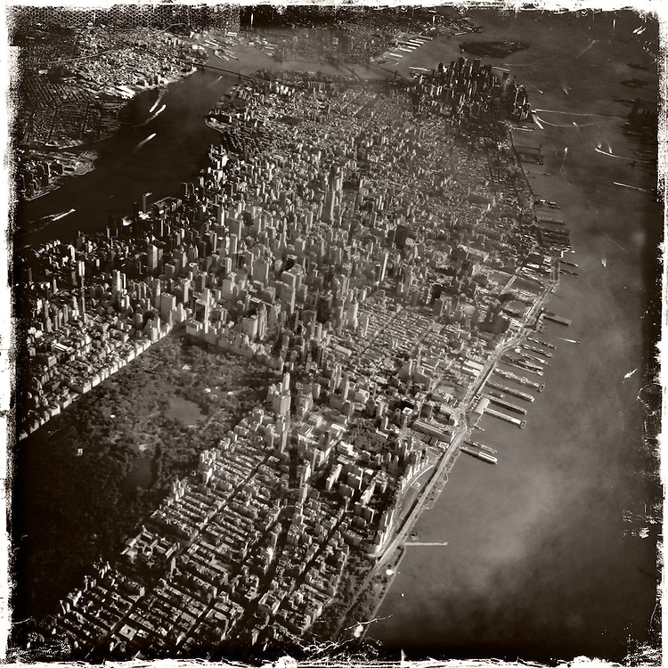 Aerial view of Manhattan, April 2012. ©2012 Darren Carroll
