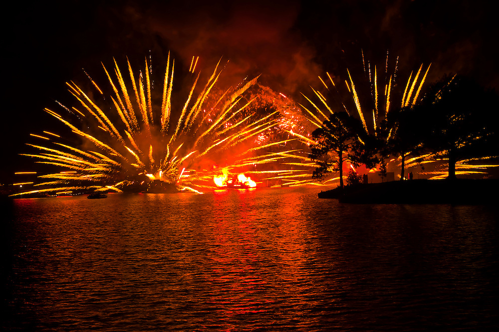 IllumiNations:Reflections of Earth fireworks and laser show,World Showcase Lagoon,  Epcot, Walt Disney World, Orlando, Florida USA