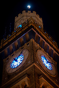 Super Blood Wolf Moon over The Bromo Seltzer Arts Tower in Baltimore, MD.