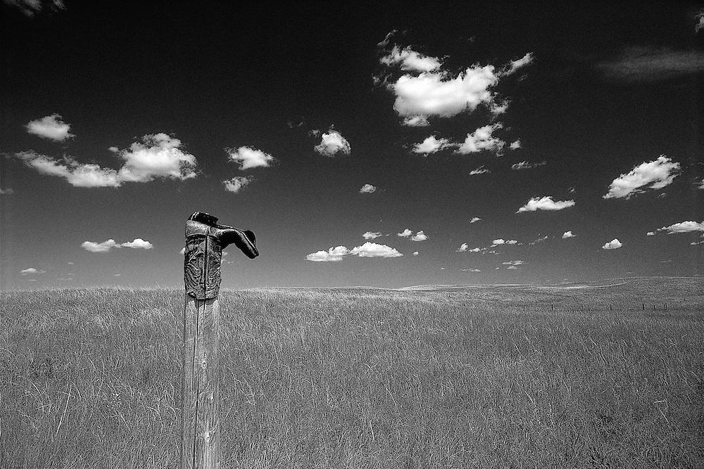 Cowboy Boot On Post, Nebraska