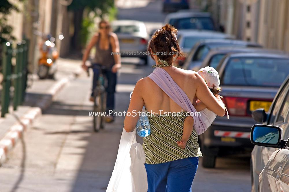 Street scene, Neve Tzedek, Tel Aviv, Israel,