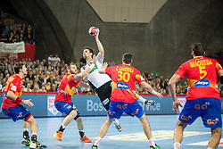Fabian Wiede of Germany during handball match between National teams of Spain and Germany on Day 2 in Preliminary Round of Men's EHF EURO 2016, on January 15, 2016 in Centennial Hall, Wroclaw, Poland. Photo by Vid Ponikvar / Sportida