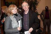 ANNALENA MCAFEE, IAN MCEWAN, Opening of David Hockney ' A Bigger Picture' Royal Academy. Piccadilly. London. 17 January 2012