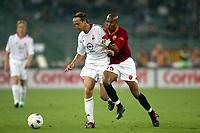 Roma 20 Maggio 2003 - Rome May 20 2003 <br />Andata finale di Coppa Italia - First Match final Italy's Cup <br />Roma Milan 1-4 <br /><br />Massimo Ambrosini (Milan) Olivier Dacourt (Roma)