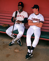 Bobby Bonds and Will Clark, 1988