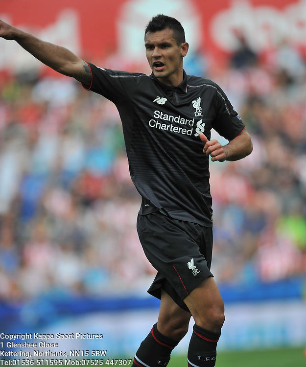 DEJAN LOVREN LIVERPOOL, Stoke City v Liverpool, Premiership, Britannia Stadium Sunday 9th August 2015