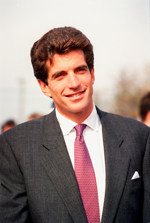 (Boston, MA - October 29, 1994) -- John F. Kennedy Jr. at Castle Island in Boston, MA..Photo by Justin Ide