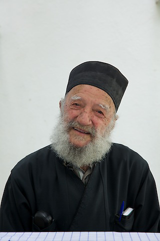 Greek Orthodox priest until age 72, Constantinos Plakas, now 96, lives in Karkinagri, Ikaria.
