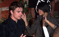 **EXCLUSIVE**.Rihanna with Josh Harnett.Pink Elephant Nightclub Third Anniversary Party.New York City, NY, USA .Thursday, October 11, 2007.Photo By Celebrityvibe.com.To license this image call (212) 410 5354 or;.Email: celebrityvibe@gmail.com; .Website: www.celebrityvibe.com .
