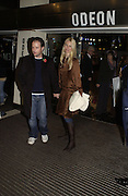 Matthew Vaughan and Claudia Schiffer. World premiere of Harry Potter and the Goblet of Fire. Odeon Leicester Sq and afterwards at then Natural History Museum. London. 6 November 2005.  2005. ONE TIME USE ONLY - DO NOT ARCHIVE © Copyright Photograph by Dafydd Jones 66 Stockwell Park Rd. London SW9 0DA Tel 020 7733 0108 www.dafjones.com
