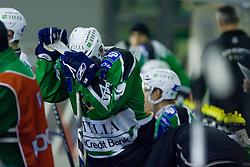 Petr Sachl (HDD Tilia Olimpija, #12) during ice-hockey match between HDD Tilia Olimpija and EC KAC in 12th Round of EBEL league, on October 17, 2010 at Hala Tivoli, Ljubljana, Slovenia. (Photo By Matic Klansek Velej / Sportida.com)