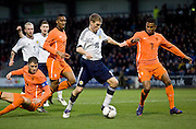 Scotland's David Wotherspoon takes on Holland's Leandro Bacuna - Scotland v Holland - UEFA U21 European Championship qualifier at St Mirren Park..© David Young - .5 Foundry Place - .Monifieth - .Angus - .DD5 4BB - .Tel: 07765 252616 - .email: davidyoungphoto@gmail.com.web: www.davidyoungphoto.co.uk