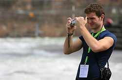 Photographer at Euro Cup 2009 R6 Rafting in TT & H2H and Slovenian National Championship 2009, on April 4, 2009, in Tacen, Ljubljana, Slovenia. (Photo by Vid Ponikvar / Sportida)