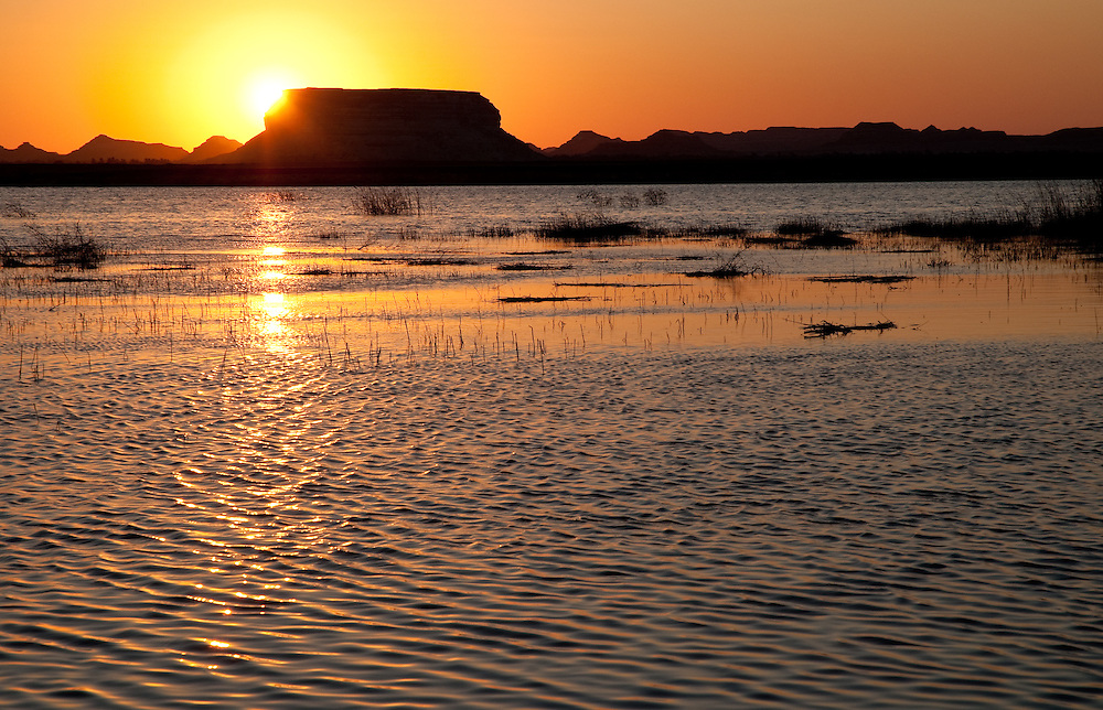 Sunset over Lake Siwa