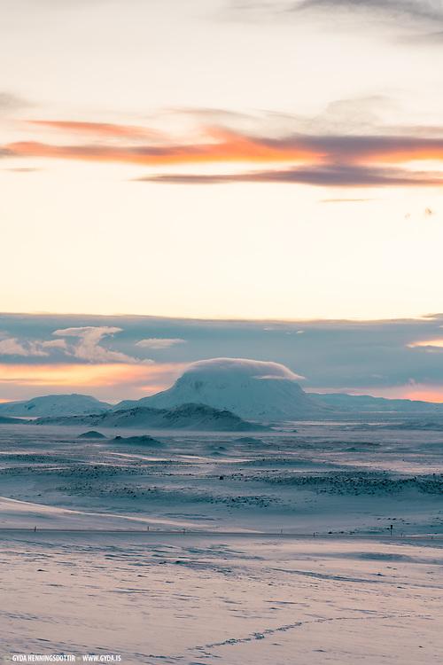 Herdubreid mountain in northeast Iceland