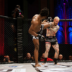 PETER IRVING DEFLECTS A KICK - UCMMA 34 2 JUNE 2013
