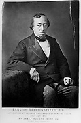 Benjamin Disraeli, 1st Earl of Beaconsfield (1804-81) British Conservative statesman. Photograph by Jabez Hughes, 22 July, 1878 by command of Queen Victoria.