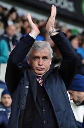 Stoke Manager, Mark Hughes - Photo mandatory by-line: Dougie Allward/JMP - Mobile: 07966 386802 - 14/03/2015 - SPORT - Football - Birmingham - The Hawthorns - West Bromwich Albion v Stoke City - Barclays Premier League