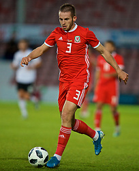 WREXHAM, WALES - Tuesday, September 10, 2019: Wales' Rhys Norrington-Davies during the UEFA Under-21 Championship Italy 2019 Qualifying Group 9 match between Wales and Germany at the Racecourse Ground. (Pic by David Rawcliffe/Propaganda)