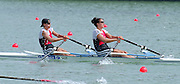 St Catherines, CANADA,  Women's Double Sculls. SUI W2X. Carolina LUETHI , Bernadette WICKI,  competing at the 1999 World Rowing Championships - Martindale Pond, Ontario. 08.1999..[Mandatory Credit; Peter Spurrier/Intersport-images]  .... 1999 FISA. World Rowing Championships, St Catherines, CANADA