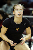 11 October 2008: Pac-10 Women's Volleyball No. 10 ranked Washington Huskies snaps No. 11 USC's Women of Troy Home Winning streak at 32 during a 3 sets to 2 set win for the Huskies who hit .409 in the final set to earn the five-set win at the Galen Center in Southern California, CA. #32 Zoe Garrett of Laguna Beach, CA.