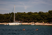 Travel in Croatia<br /> <br /> Swimming in a bay inside the Pakleni Islands near Hvar.<br /> <br /> June 2013<br /> Matt Lutton