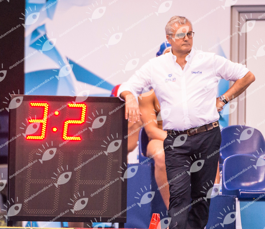 LEN European Water Polo Championships 2016<br /> Georgia GEO (White) Vs Italy ITA (Blue)<br /> Men<br /> Head Coach CAMPAGNA Alessandro ITA<br /> Kombank Arena, Belgrade, Serbia <br /> Day06  15-01-2016<br /> Photo G. Scala/Insidefoto/Deepbluemedia