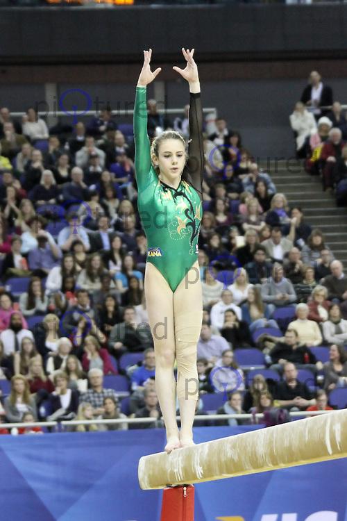 LONDON - JANUARY 13:  Visa International Artistic Gymnastics - London 2012 Olympics Test Event at the North Greenwich Arena, London, UK on January 13, 2012. (Photo by Richard Goldschmidt)