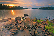 Middle Lake at sunrise<br />Kenora<br />Ontario<br />Canada