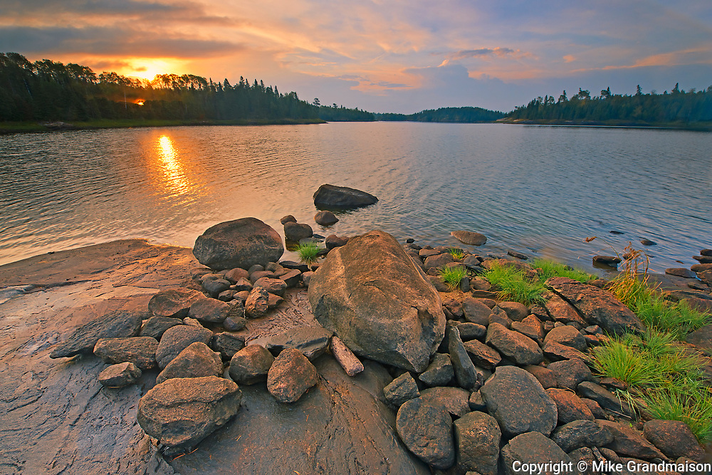 Middle Lake at sunrise<br />