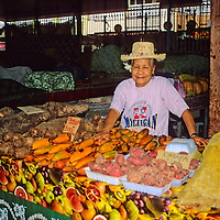 Oceania, South Pacific, French Polynesia, Tahiti. Papeete Market.