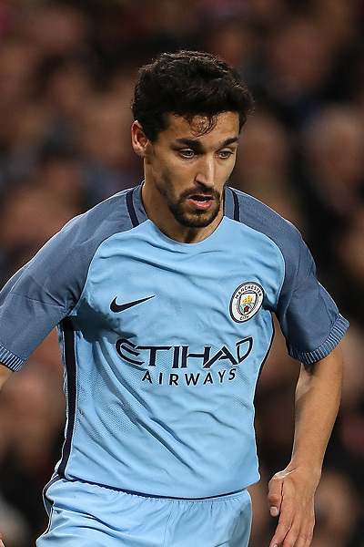 SHENZHEN - JULY 28: Manchester City midfielder Jesus Navas during the 2016 International Champions Cup China match at the Shenzhen Stadium on 28 July 2016 in Shenzhen, China. (Photo by Power Sport Images/Getty Images)